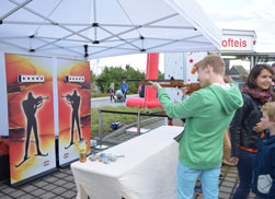 Biathlon Simulator zum Family Day